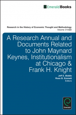 Jacket image for A Research Annual and Documents Related to John Maynard Keynes, Institutionalism at Chicago & Frank H. Knight