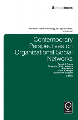 Jacket image for Contemporary Perspectives on Organizational Social Networks