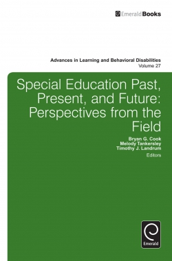 Jacket image for Special education past, present, and future