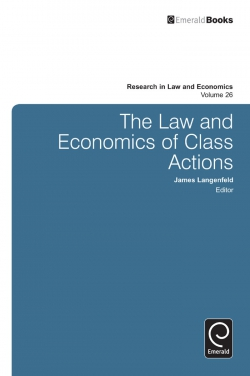 Jacket image for The Law and Economics of Class Actions