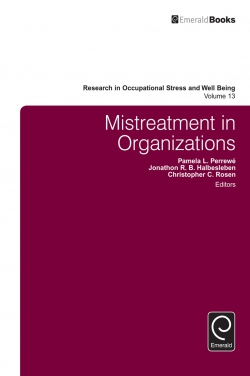 Jacket image for Mistreatment in Organizations