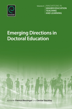 Jacket image for Emerging Directions in Doctoral Education