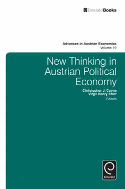 Jacket image for New Thinking in Austrian Political Economy