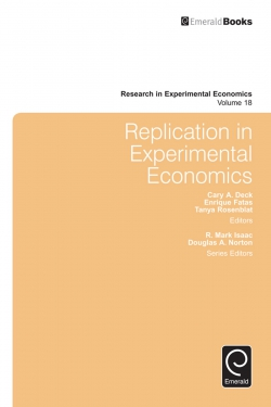 Jacket image for Replication in Experimental Economics