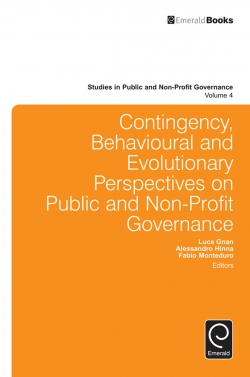 Jacket image for Contingency, Behavioural and Evolutionary Perspectives on Public and Non-Profit Governance