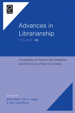 Jacket image for Accessibility for Persons with Disabilities and the Inclusive Future of Libraries