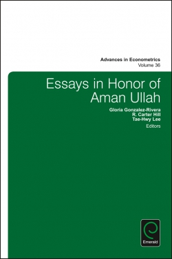 Jacket image for Essays in Honor of Aman Ullah