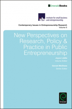 Jacket image for New Perspectives on Research, Policy & Practice in Public Entrepreneurship