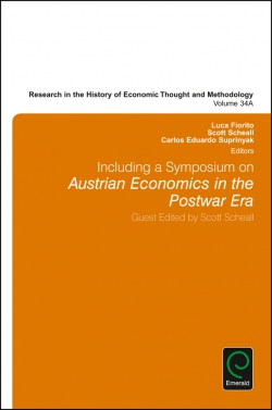 Jacket image for Including a Symposium on Austrian Economics in the Postwar Era