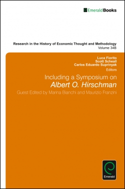 Jacket image for Including a Symposium on Albert O. Hirschman