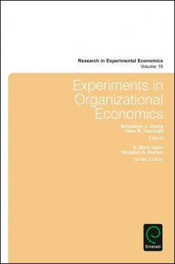 Jacket image for Experiments in Organizational Economics