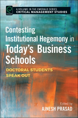 Jacket image for Contesting Institutional Hegemony in Today's Business Schools