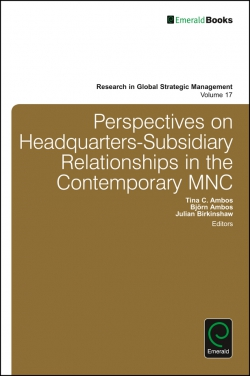 Jacket image for Perspectives on Headquarters-Subsidiary Relationships in the Contemporary MNC
