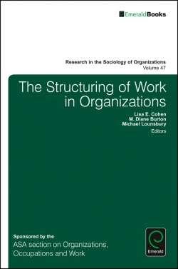 Jacket image for The Structuring of Work in Organizations