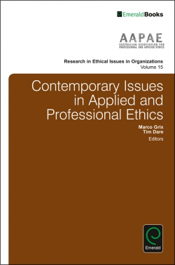 Jacket image for Contemporary Issues in Applied and Professional Ethics