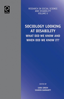 Jacket image for Sociology Looking at Disability