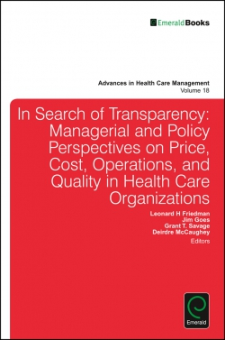 Jacket image for Transparency and Stakeholder Management in Health Care Organizations