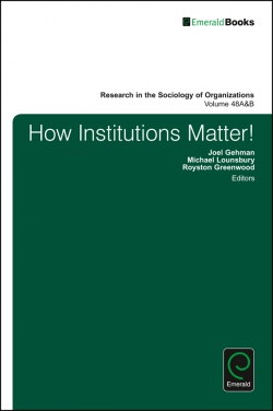 Jacket image for How Institutions Matter!