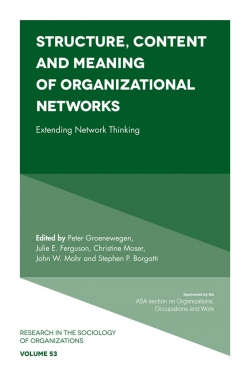 Jacket image for Structure, Content and Meaning of Organizational Networks