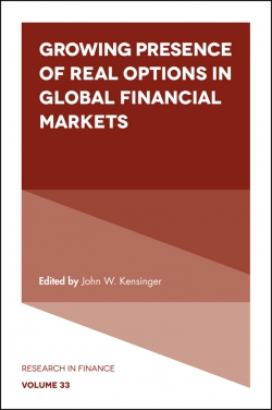 Jacket image for Growing Presence of Real Options in Global Financial Markets