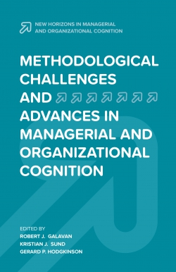 Jacket image for Methodological Challenges and Advances in Managerial and Organizational Cognition
