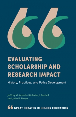 Jacket image for Evaluating Scholarship and Research Impact