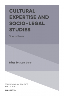 Jacket image for Cultural Expertise and Socio-Legal Studies