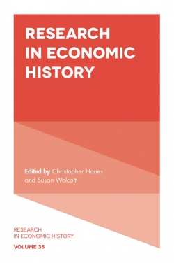 Jacket image for Research in Economic History