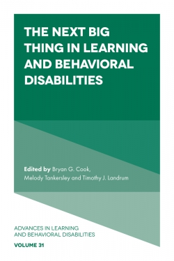 Jacket image for The Next Big Thing in Learning and Behavioral Disabilities