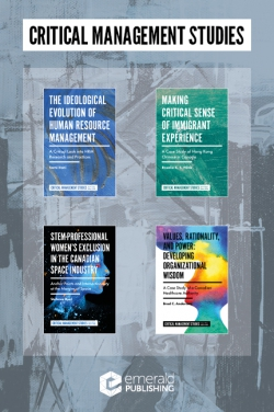 Jacket image for Critical Management Studies Book Set (2016-2019)