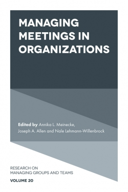 Jacket image for Managing Meetings in Organizations