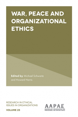 Jacket image for War, Peace and Organizational Ethics