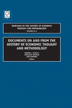 Jacket image for Documents on and from the History of Economic Thought and Methodology