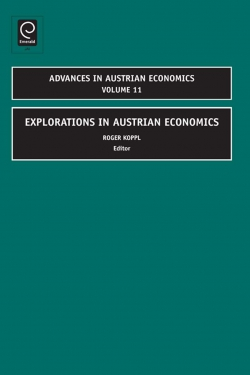 Jacket image for Explorations in Austrian Economics