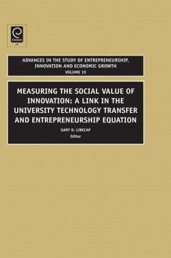 Jacket image for Advances in the Study of Entrepreneurship, Innovation and Economic Growth