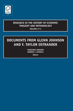 Jacket image for Documents from Glenn Johnson and F. Taylor Ostrander