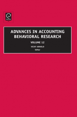 Jacket image for Advances in Accounting Behavioral Research