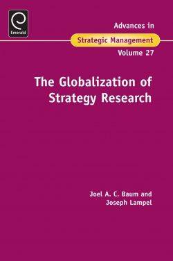 Jacket image for The Globalization Of Strategy Research