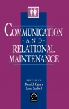 Jacket Image For: Communication and Relational Maintenance