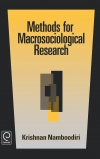 Jacket Image For: Methods for Macrosociological Research