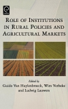 Jacket Image For: Role of Institutions in Rural Policies and Agricultural Markets