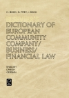 Jacket Image For: Elsevier's Dictionary of European Community Company/Business/Financial Law