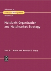 Jacket Image For: Multiunit Organization and Multimarket Strategy