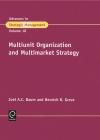 Jacket Image For: Multiunit Organization and Multimarket Strategy