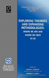 Jacket Image For: Exploring Theories and Expanding Methodologies