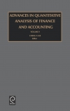 Jacket Image For: Advances in Quantitative Analysis of Finance and Accounting