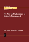 Jacket Image For: The New Institutionalism in Strategic Management