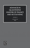 Jacket Image For: Advances in Quantitive Analysis of Finance and Accounting