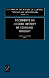 Jacket Image For: Documents on Modern History of Economic Thought