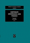 Jacket Image For: Corporate Governance and Finance